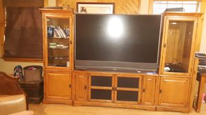 Solid Oak Entertainment Center for Sale in Kirbyville, TX