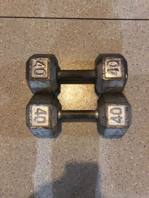 40lb dumbbell set for Sale in Joliet, IL