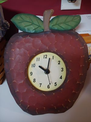 Wooden apple wall clock for Sale in York, PA