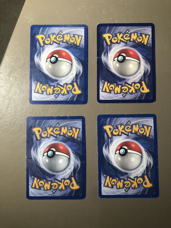 Lot of (4) Vintage Pokemon Cards Varying Condition - Neo, Promo, jungle