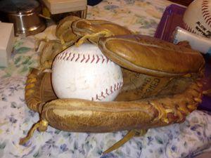 Softball Glove with Balls for Sale in Chesapeake, VA