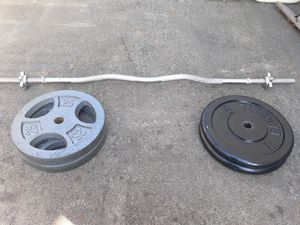 Standard bar & weights for Sale in Seaside, CA