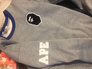Bape Crewneck Grey Sweater for Sale in Orlando, FL