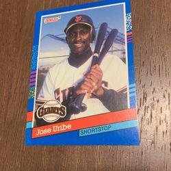 1991 DonRuss Jose Uribe Rare Error Card 375 for Sale in Patterson,  CA