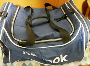Men's Blue And White Reebok Duffle Bag for Sale in Westbury, NY