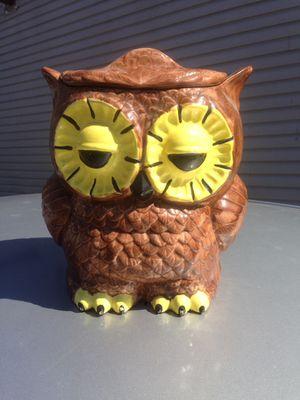 Vintage ceramic owl cookie jar for Sale in Baltimore, MD