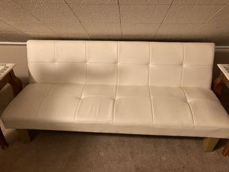 White Leather Futon for Sale in Monaca,  PA