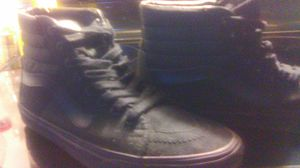 Off the wall all black hightop vans size 9 half for Sale in Indianapolis, IN