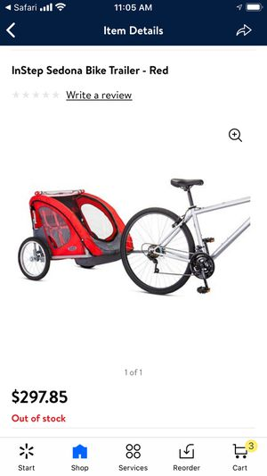 Instep Bike Trailer for Sale in Wyomissing, PA