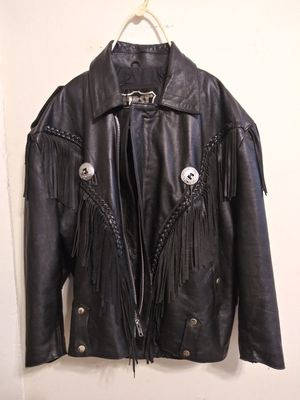womens leather coat.. its brand is FIRST GENUINE LEATHER for Sale in Franklin, OH