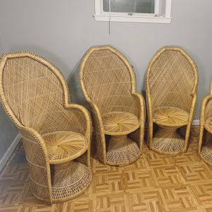 Rare vintage peacock chairs (see description) for Sale in Washington, DC