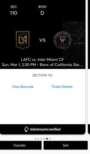 Lafc season opener LAFC v inter for Sale in Los Angeles, CA