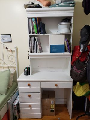 Study desk with bookshelves and Drawers for Sale in Queens, NY
