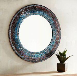 Pier 1 Midnight Mosaic Round Mirror for Sale in Valley Stream, NY
