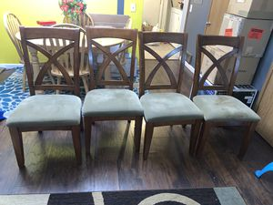 Wooden chairs with cushion for Sale in Mountlake Terrace, WA