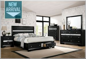 New 4 piece black bedroom set - Queen size. for Sale in Ontario, CA