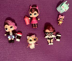 LOL Dolls - Black Tie, Rocker And sugar pup, Glitter Spice And Little Sister for Sale in Miami,  FL