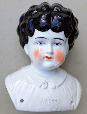 Antique porcelain german doll head pat applied for named Helen 1905 hertwig for Sale in Saginaw, MI
