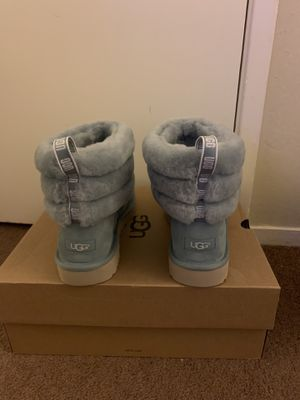 100% Authentic Brand New in Box UGG Fluff Mini Quilted Boots / Color: Succulent / Women size 9 for Sale in Walnut Creek, CA
