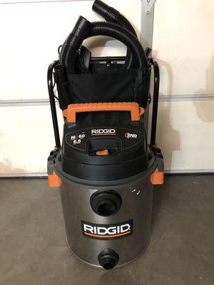 16 Gal Stainless Steel Wet/Dry Shop Vacuum for Sale in Las Vegas, NV