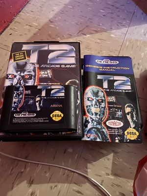 T2: The Arcade Game Sega Genesis 1992 COMPLETE w/ Box Manual for Sale in The Bronx, NY