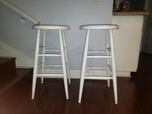 2 Wood Stools 29inches tall for Sale in Irvine, CA