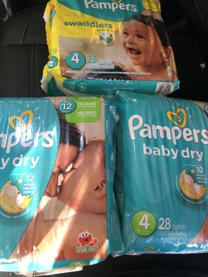 Pampers size 4 for Sale in Syracuse, UT