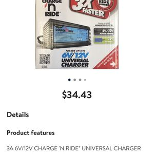 Universal Battery Charger For Kids Ride On Toys for Sale in Goodyear, AZ