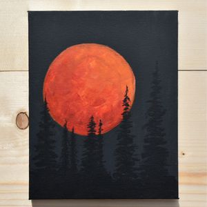 Moon painting/Handpainted/decor/Night/Picture for Sale in Portland, OR