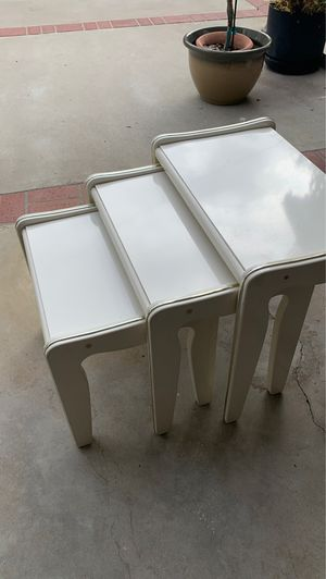 Three piece decorative end tables for Sale in Los Angeles, CA