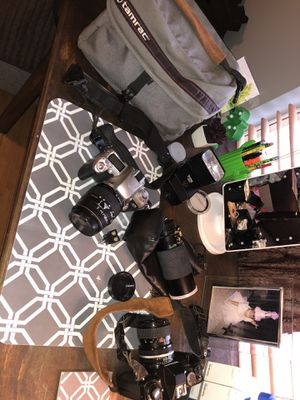 Nikon n200 and Nikon n75 with flash extra lens and other accessories for Sale in Catonsville, MD