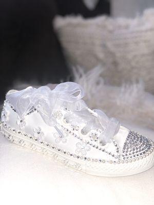 Converse Girl 2 Custom with Swarovski Crystal for Sale in San Jose, CA