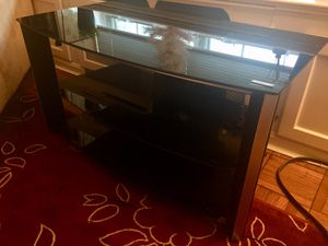BLACK GLASS TV STAND- GREAT CONDITION for Sale in Alexandria, VA
