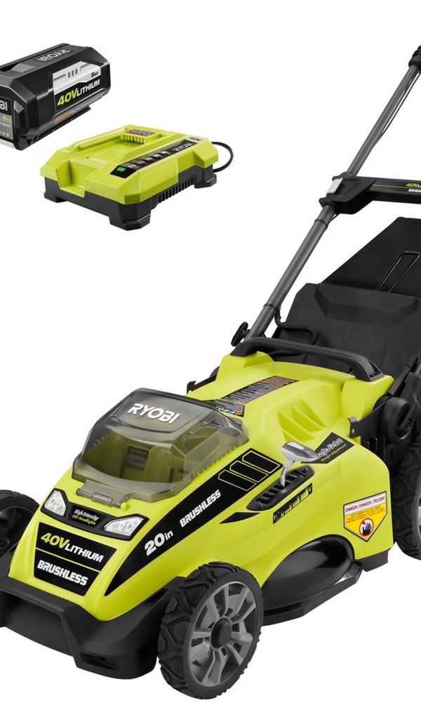 Electric Ryobi Lithium Battery Lawnmower!
