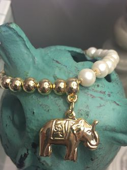 Bracelet With Elephant Charm And Pearls for Sale in Nashville,  TN