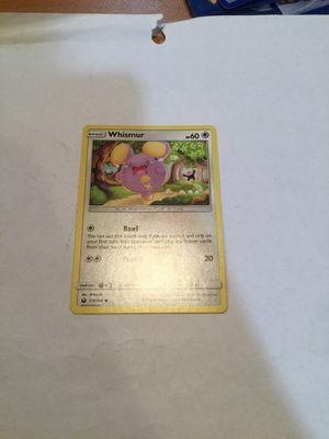 Whismur Pokemon card for Sale in Warwick, RI