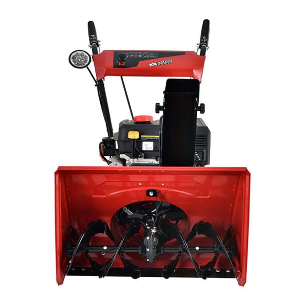 "Amico Power 24"" 212cc 2 Stage Electric Start Gas Snow Blower/Snow Thrower"