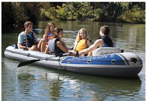 Intex Excursion 5, 5-Person Inflatable Boat Set for Sale in Laguna Niguel, CA