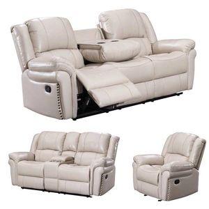 Brand New Monrose 3PC living room recliner set - off white for Sale in Katy, TX