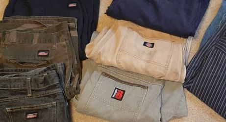 Mens Clothing (Dickies, Vans, Wranglers) Sizes In Pics for Sale in Salem,  OR