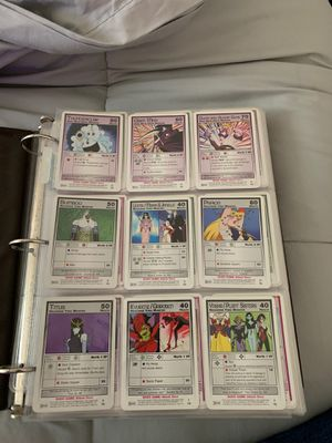 Binder of sailor moon and dbz and X-men cards for Sale in Portland, OR