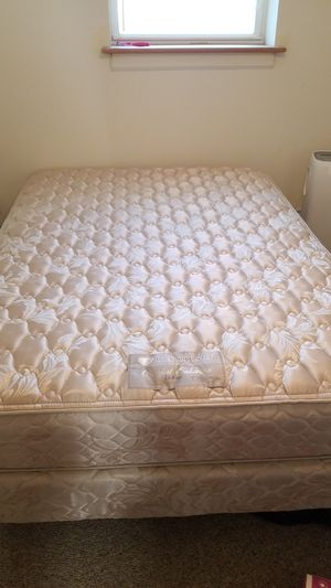 Queen mattress, box springs and frame for Sale in Washington, DC