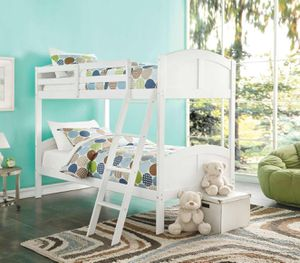 Twin/Twin Bunk Bed - 37009 - White GD for Sale in Pomona, CA