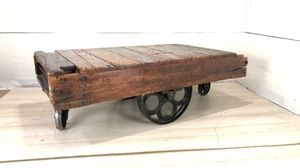 Antique Steampunk Cart Coffee Table for Sale in Lynchburg, VA