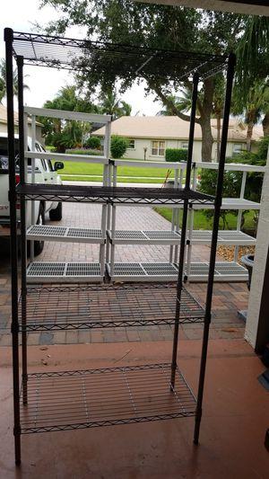 Sturdy metal shelves (3)) for Sale in Delray Beach, FL