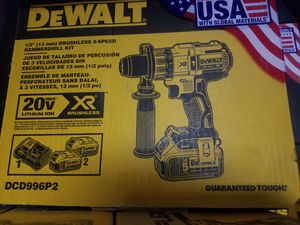 """1/2"""" brushless 3 speed hammer drill kit $180 precio firme for Sale in Baldwin Park, CA"""