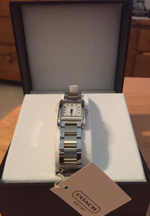 Coach watch - silver link - never used for Sale in Alexandria, VA
