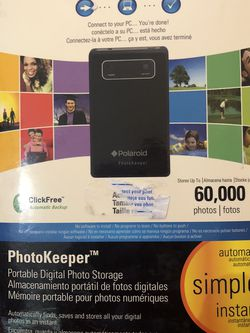 Polaroid Photo Keeper/ Portable Digital Photo Storage, New In Box for Sale in West Palm Beach,  FL