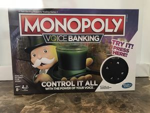Hasbro Monopoly Voice Banking Board Game for Sale in West Dundee, IL