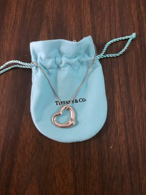 Tiffany and Co Silver Floating Heart Necklace for Sale in El Cajon, CA